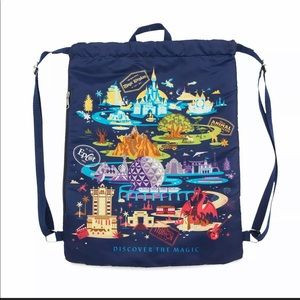 Drawstring Disney World Backpack -new without tags